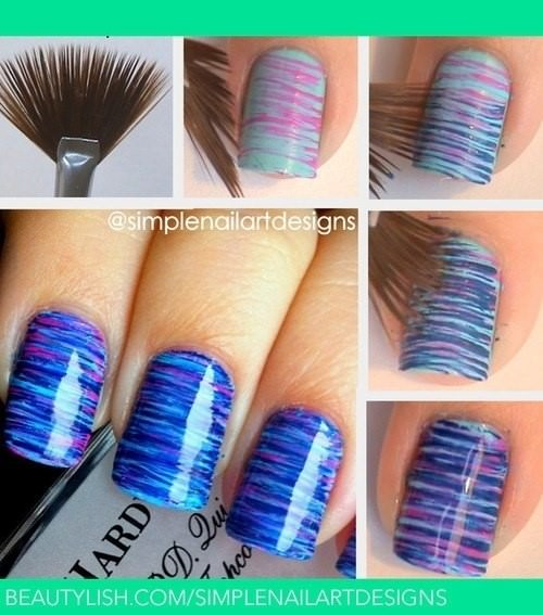 brushed effect finger nails