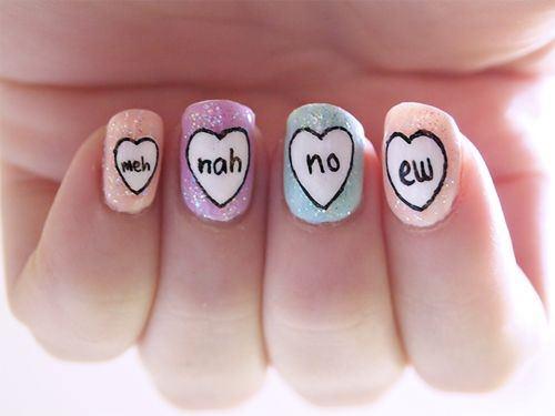 Lovehearts Nail art Ideas