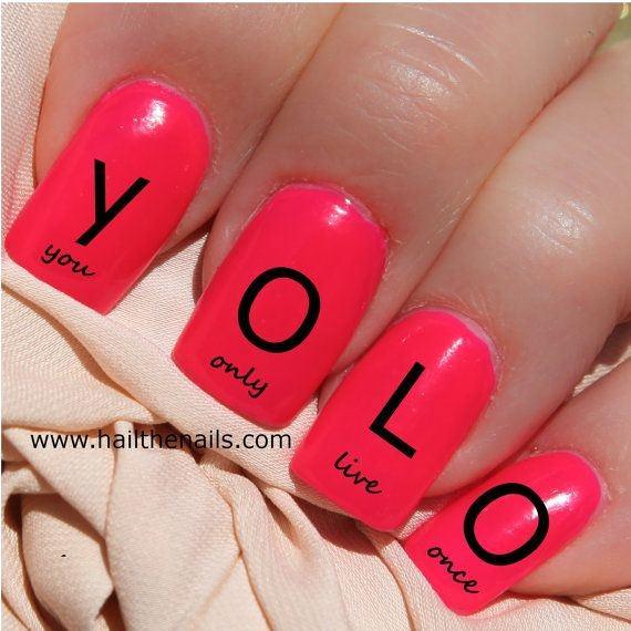 YOLO Nail art