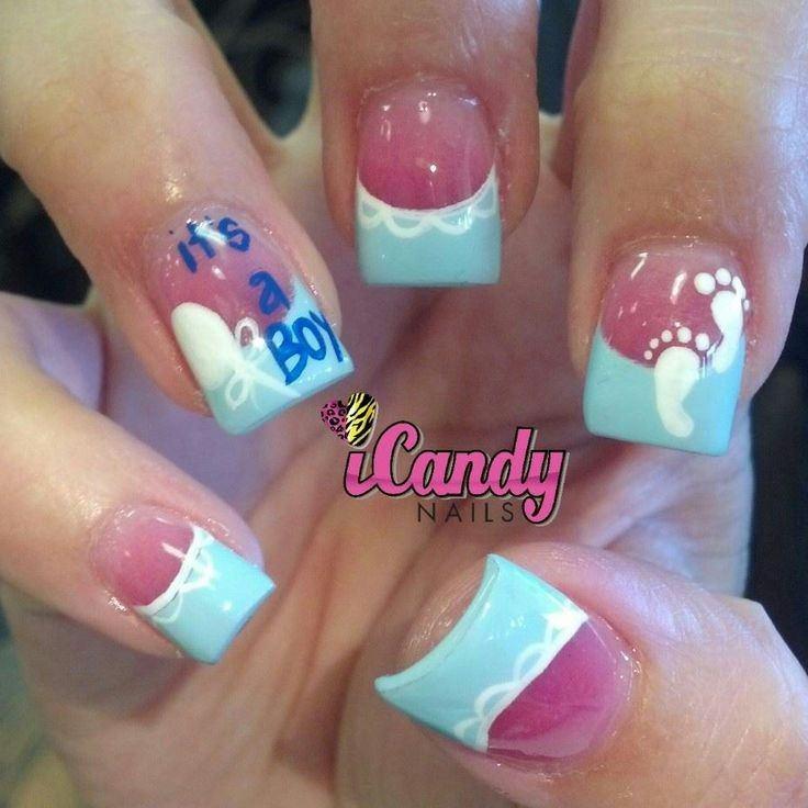 baby boy nail art fingernails