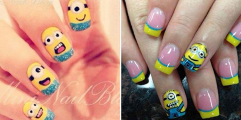 Minons nail art