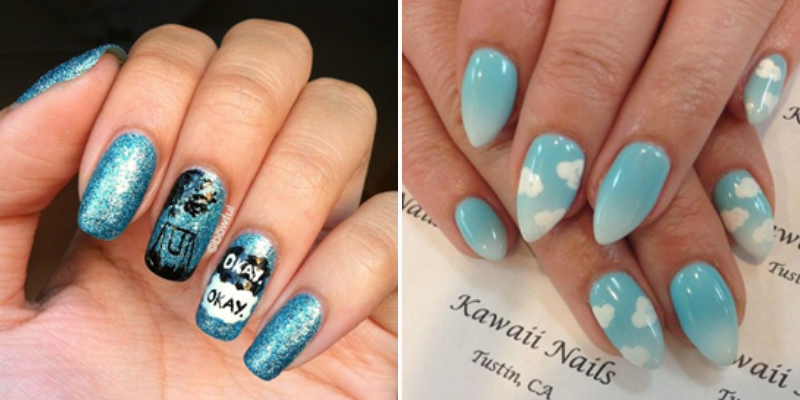 fault in our stars nail art